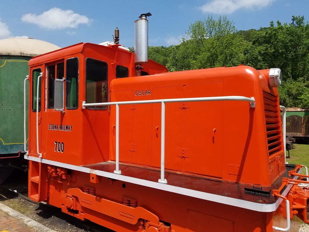 Eureka Springs & North Arkansas Railway red locomotive
