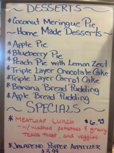 The Filling Station in Eureka Springs Lunch Specials