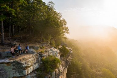Eureka Springs Outdoors photo of sunset over cliff