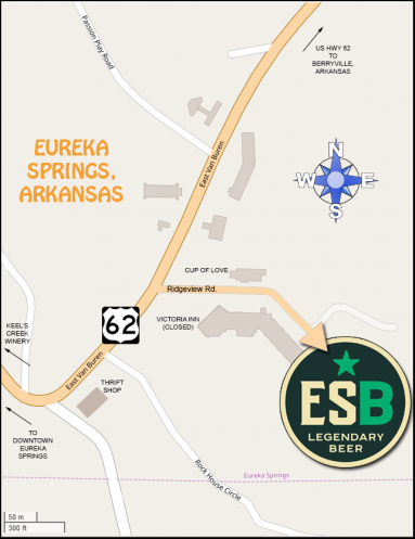 Eureka Springs Brewery Map