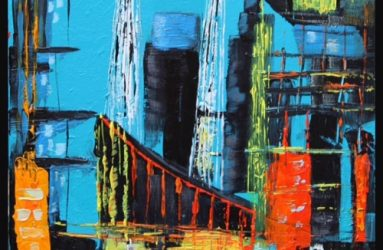 Abstract painting from Studio 34