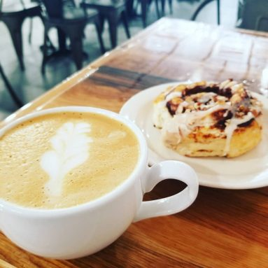 Eureka Springs cappuccino and cinnamon role