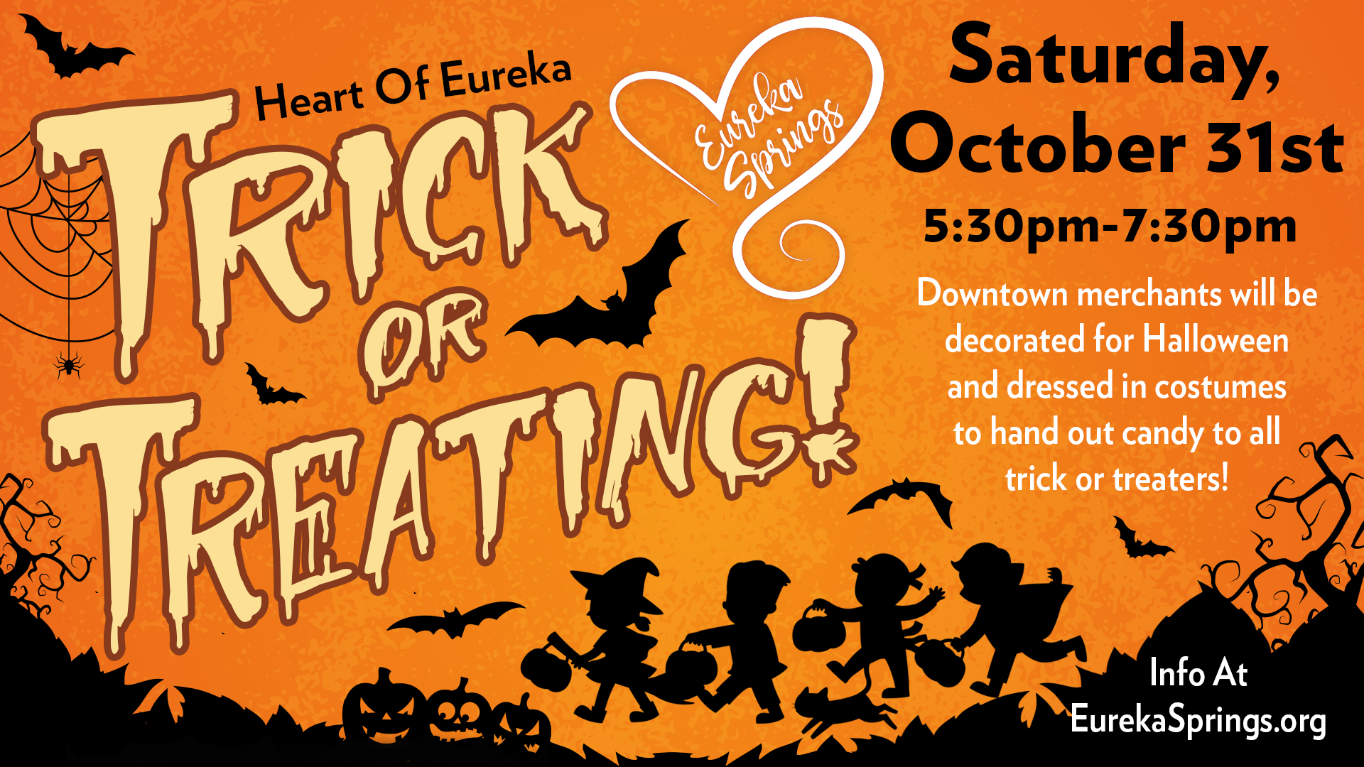 Eureka Springs Halloween Trick or Treating